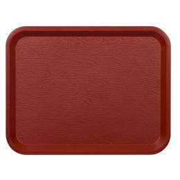 Plateau Fast food 26x36 cm marron