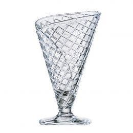 Coupe à glace Cornetto - verre transparent - 28 cl