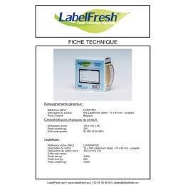 """Étiquette LabelFresh Labels """"surgelés"""""""