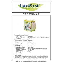 Étiquette LabelFresh - hydrosoluble 7 jours