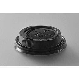 Couvercle noir pour gobelet de 24 cl
