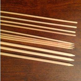 Piques à brochette en hêtre - 20cm ø 3,8mm
