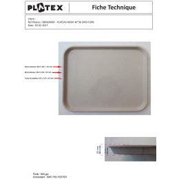 Plateau Le Texan polyester et fibre de verre 46x36 cm