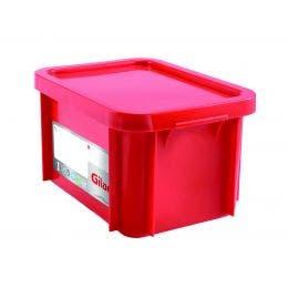 Bac HACCP avec couvercle - rouge - 15 l