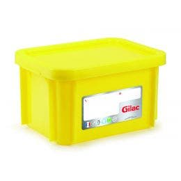 Bac HACCP avec couvercle - jaune - 15 l