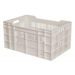 Caisse ajourée blanche - 25L - 600x400x135 mm