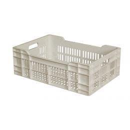 Caisse ajourée blanche - 40L - 600x400x200 mm