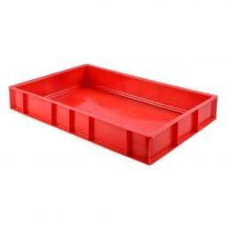 Caisse à viande pleine rouge - 15L - 600x400x90 mm