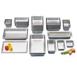 Couvercle bac gastronorme GN 1/9 - inox poignée - 176 x 108
