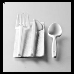 Kit 4/1 de couverts plastique