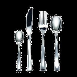 Kit 4/1 de couverts métallisés
