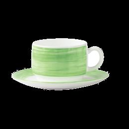 Soucoupe thé 140 mm vert gamme Restaurant brush