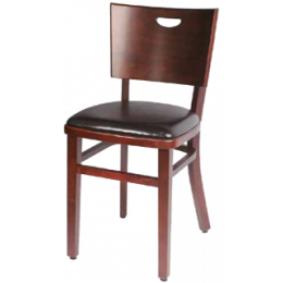 Chaise gamme Bistrot Confort - noir