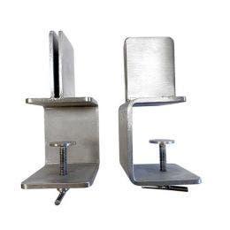 Séparateur de table - Lot de 2 supports centraux inox 4 mm