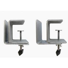 Séparateur de table - Lot de 2 supports latéraux inox 3 à 30 mm
