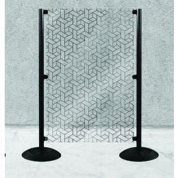 Panneaux de séparation - Kit GEO avec 2 poteaux + panneau 1400x1000mm