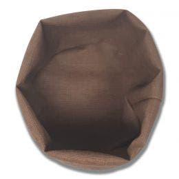 Panière ronde - Effet tissu - Diamètre 20 cm - Taupe