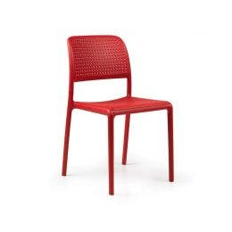 Chaise Bora Bistrot - rouge - 490 x 540 x 830 mm