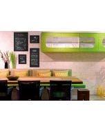 Ardoise murale rectangulaire Woody - noir - 60 x 80 cm