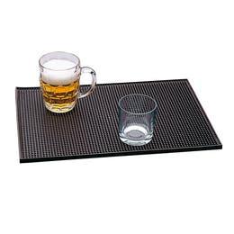 Tapis de bar - Caoutchouc noir - 45,5x30,5 cm